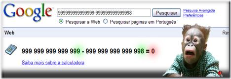 Google Calculadora Calculator não sabe contar