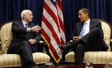 Reunião Barack Obama e John Mccain