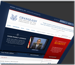 Change.gov Site Barack Obama opinião popular