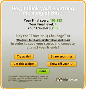 Pontuação TravelPod